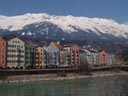 mariahilf - said to be innsbruck's most beautiful row of houses