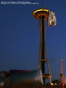albuin visiting the space needle in seattle, usa
