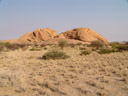 spitzkoppe community campsite - we set up our tents near the white spot on the right