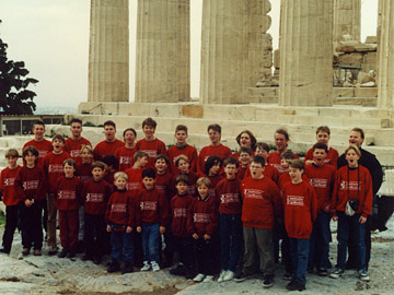 innsbrucker capellknaben boys' choir in athens, greece. (click to enlarge)