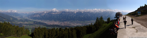 panorama: view of innsbruck and the inn valley, as seen from patscherkofel