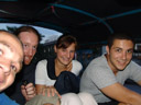 me, stefan, lisa & mathias - i think the usual maximum number of tuktuk passengers is two