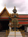 one of twelve giant demons (yaksha) that guard the gates of wat phra kaew (at hor phra naga)