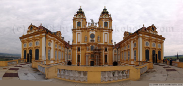 panorama of the collegiate church at melk abbey, created with hugin