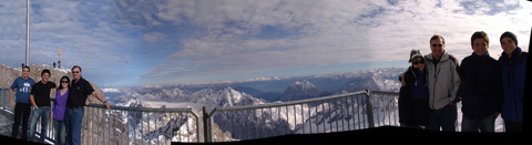 it's hot & cold on zugspitze