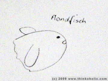 sketch of an ocean sunfish