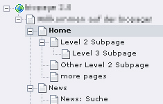 my typo3 page-tree