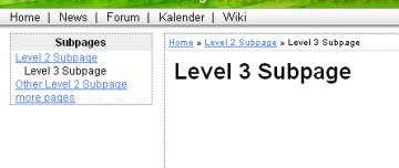typo3 submenu screenshot