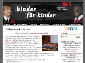 screenshot: kinder-fuer-kinder.at