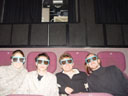 lisa, me, clemens and stefan in the imax3D. 2004-04-13, Sony Cybershot DSC-F717. keywords: lisa, markus nolf, clemens, me, stefan, imax, 3d