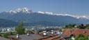 panorama: view towards innsbruck