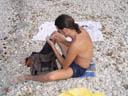 tom's version of ''having fun at the beach'' ;-). 2004-09-27, Sony Cybershot DSC-F717.