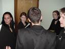 cantus borg: nadja, julia, fabio's enchanting back, lisa and martin. 2005-03-25, Sony Cybershot DSC-F505.