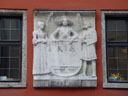 old relief, showing innsbruck's emblem