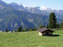 idyllic alpine landscape