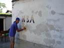 tom, plastering the wall. 2005-06-19, Sony Cybershot DSC-F717.