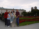 markus, cindy, heather and larry at mirabell garden. 2005-10-07, Sony Cybershot DSC-F717.
