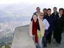 group photo above innsbruck: heather, larry, cindy, dad, anton, me, mom. 2005-10-09, Sony Cybershot DSC-F717.