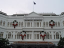 the raffles hotel, with christmas decoration