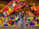 jaslin, me, and wee hui (my other host), in front of giant sandals ;-)