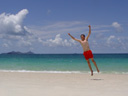 self-timer fun at whitehaven beach