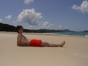 ich, am whitehaven beach