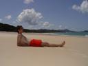 me, whitehaven beach. 2005-11-29, Sony Cybershot DSC-F717.