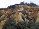 the pinnacles, colourful sandstone formations. 2005-12-01, Sony Cybershot DSC-F717.