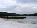 lake birrabeen - a freshwater lake with a white beach