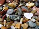 colourful stones at rocky beach