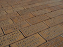 at don street: cobblestones containing all the names of the residents at the time the street was paved