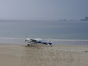our airfield: the island's only beach. 2005-12-14, Sony Cybershot DSC-F717.