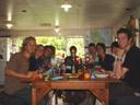 christmas group photo: matt, emlie, markus, ursula, tom, phil, eleanor, xin and malcolm. 2005-12-25, Sony Cybershot DSC-F717.