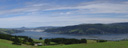 panorama: otago harbour. 2005-12-30, Sony Cybershot DSC-F717. keywords: otago peninsula