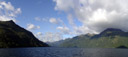 panorama: lake manapouri