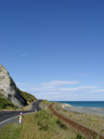 coastal road. 2006-01-02, Sony Cybershot DSC-F717. keywords: railtracks, shore, rail track, railtrack, windy road