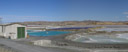 panorama: dominion salt works, lake grassmere