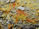 yellow and orange, or: sulphur and antimony oxide deposits