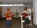 musicians welcoming us at nadi airport. 2006-01-09, Sony DSC-F717.