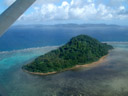 viubani island, from the air