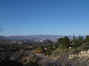 the view from mulholland scenic overlook: san fernando valley