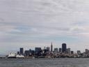 die skyline von san francisco || foto details: 2006-01-26, san francisco, ca, usa, Sony DSC-F717. keywords: the rock, alcatraz island
