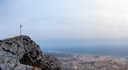 panorama: creueta denia (denia's cross) and denia itself