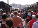 a tourist market: a crowded area with an unusually high frequency of sweaty foreigners
