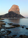 pe&#164;&#162;n de ifach (penyal d'ifac) at sunset