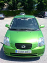 our second rental car - the greenest car i've ever seen. 2006-08-01, SonyEricsson K750i.