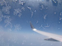 frost, building up on the airplane's window
