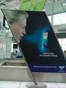 back in munich. while waiting for our baggage, we discovered this advertising.... 2006-08-03, Sony Cybershot DSC-F828.