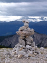 a cairn to mark the way. 2006-08-19, Sony Cybershot DSC-F828. keywords: steinmännchen, steinmann