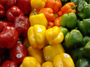 multicolor. 2006-02-10, Sony Cybershot DSC-F828. keywords: green pepper, red pepper, yellow pepper, orange pepper